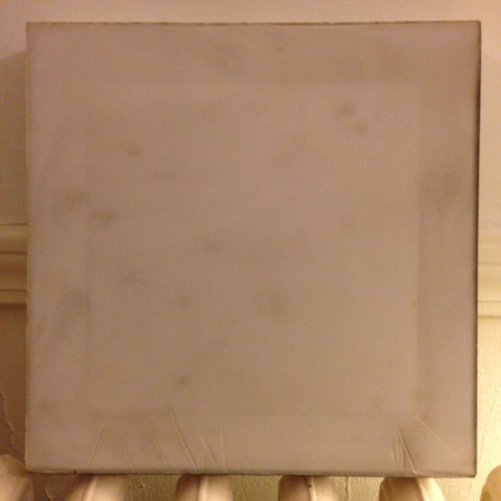"9"" x 9"" Plaster cast released - still drying."