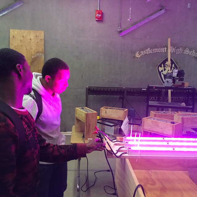 Let there be light!  #verticalfarming #urbanagriculture #oakland @philipslight @hortamericas