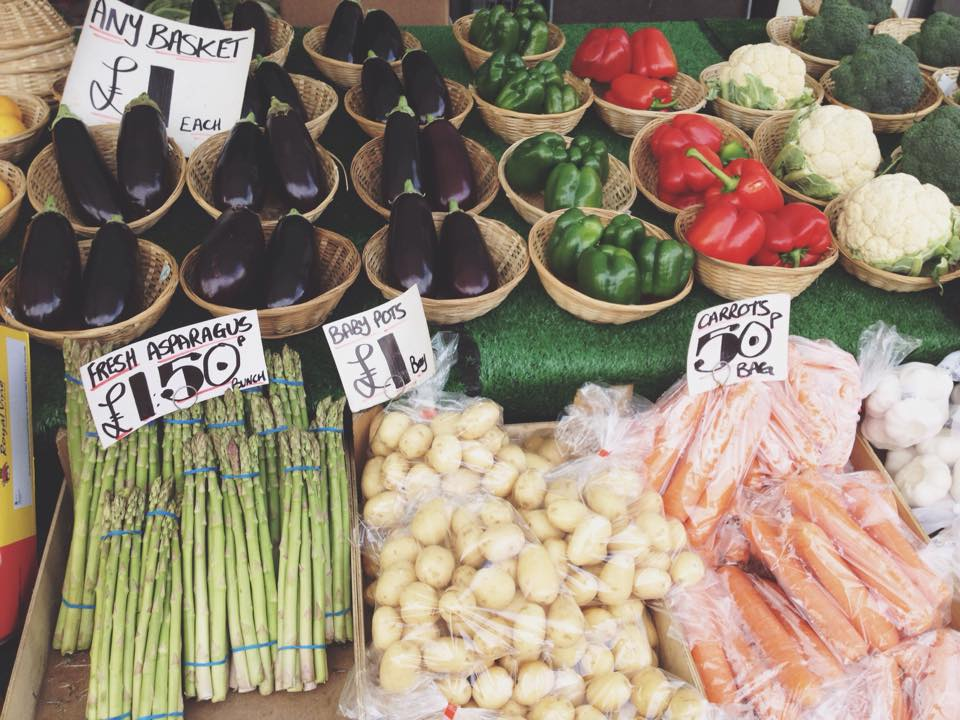 Variety of vegetables...try and use your local market and support small businesses.
