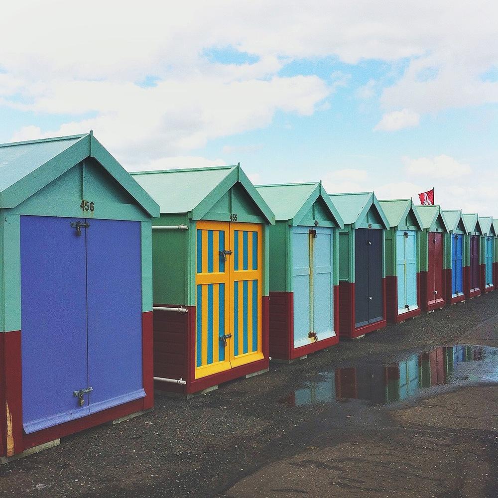 Colourful Brighton shack doors