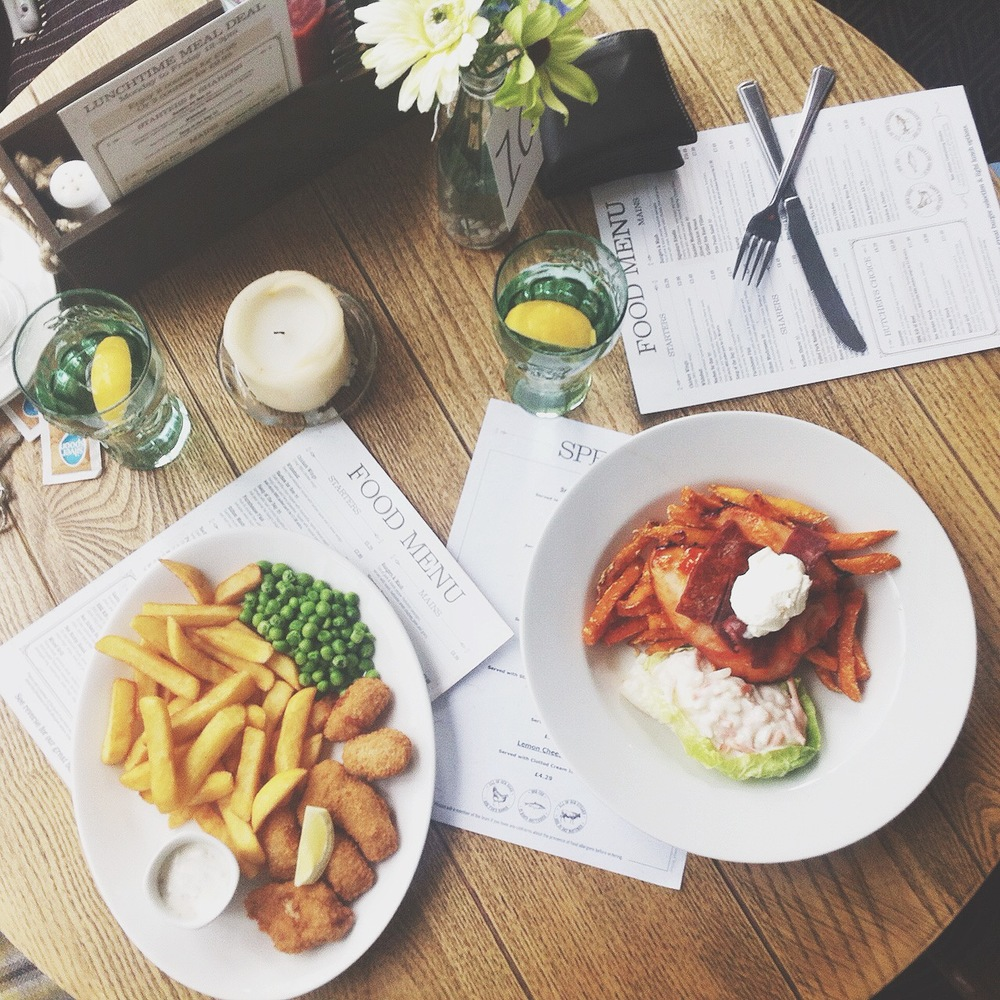 A delicious lunch from the  Spyglass & Kettle