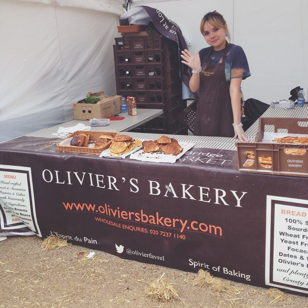 And no surprise, the tasty treats from  Olivier's Bakery  were nearly sold out by the end of the day