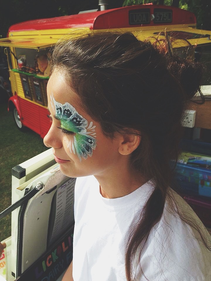 And yes, our LICKALICKer may have been the only adult to get her face painted