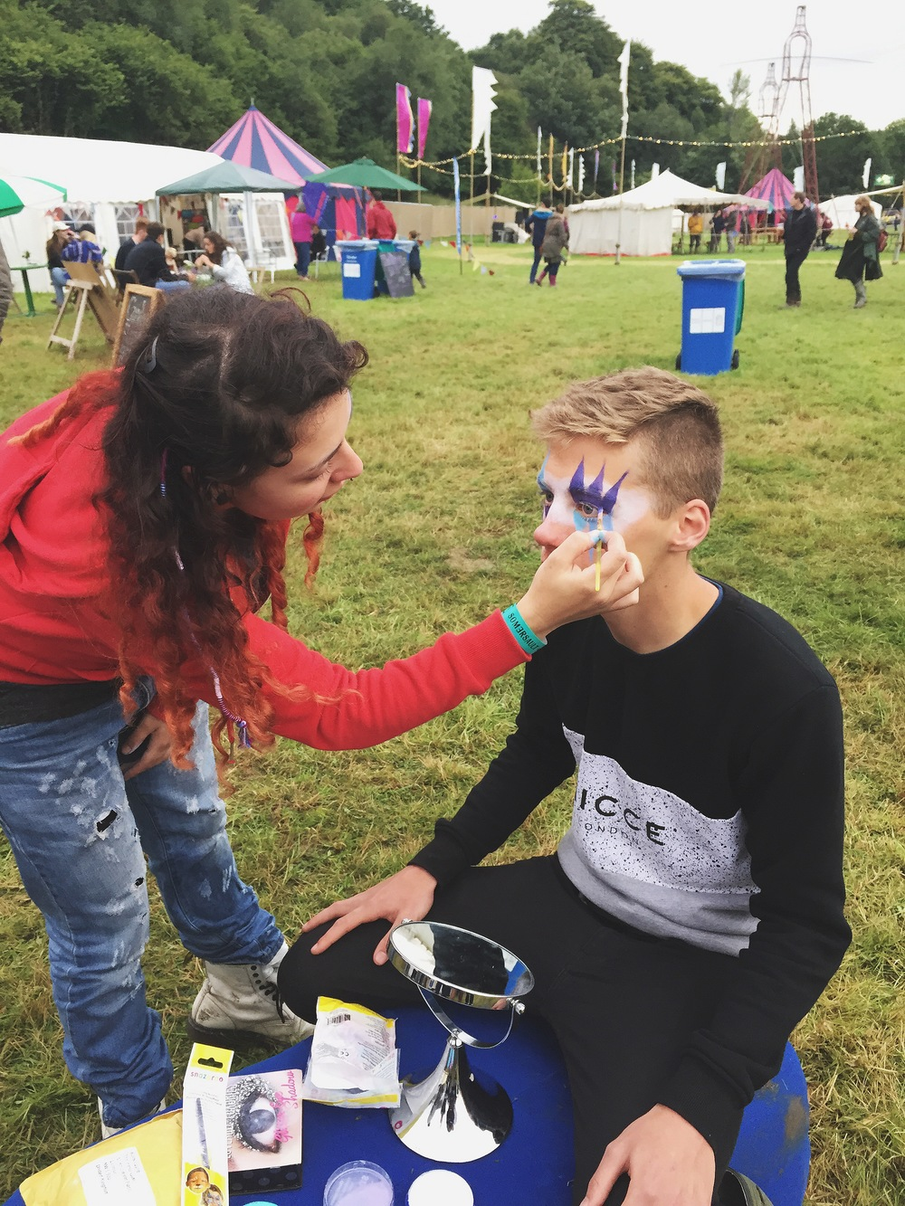 And one of our LICKALICKers decided to take up a new career in face painting