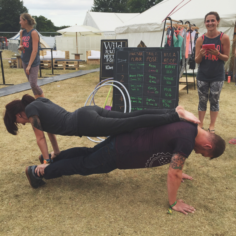 People were getting competitive for the chance to win a free T from Sweaty Betty