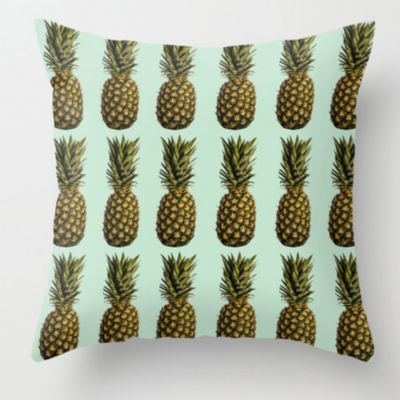 This  pineapple pillow    reminds us of our Caribbean Twist ice lolly (made with pineapple, passion fruit and mango!)