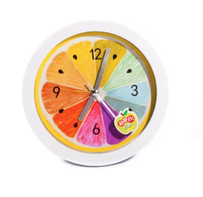 What a refreshing way to wake up! We loving this fruity  alarm clock