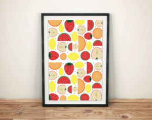 This  juicy fruit wall print  makes us want to chill out with our Oh So Berry ice lolly or Strawberry Banana Smoothie!
