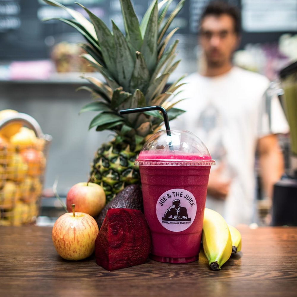 In numerous locations all across the country. We recommend 65 King's Road, 281 Regent Street & 46 Dean Street  www.joejuice.com