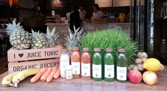 Juice Tonic, 3 Winnett Street, W1D 6JY www.juicetonic.com