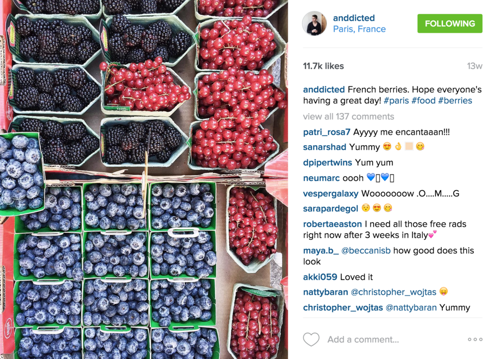 Anddicted is run by a Milan based lifestyle, food & travel instagrammer named Andrea Tamburrini. His feed is filled with beautiful photographs of food and travel. It's a great foodspiration Instagram whilst being inspiring for travel as well!