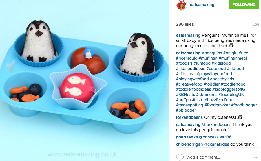 THIS MUM OF TWO BOYS NEEDED A WAY TO KEEP HER BOYS ENTERTAINED DURING MEAL TIME AND SHE DID IT! HER INSTAGRAM IS FULL OF CREATIVE FOOD DESIGNS WITH HEALTHY MEALS. FOLLOW HER HERE