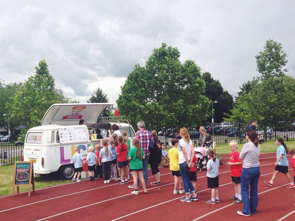 No one could resist our refreshing ice lollies and the queue wouldn't stop growing!