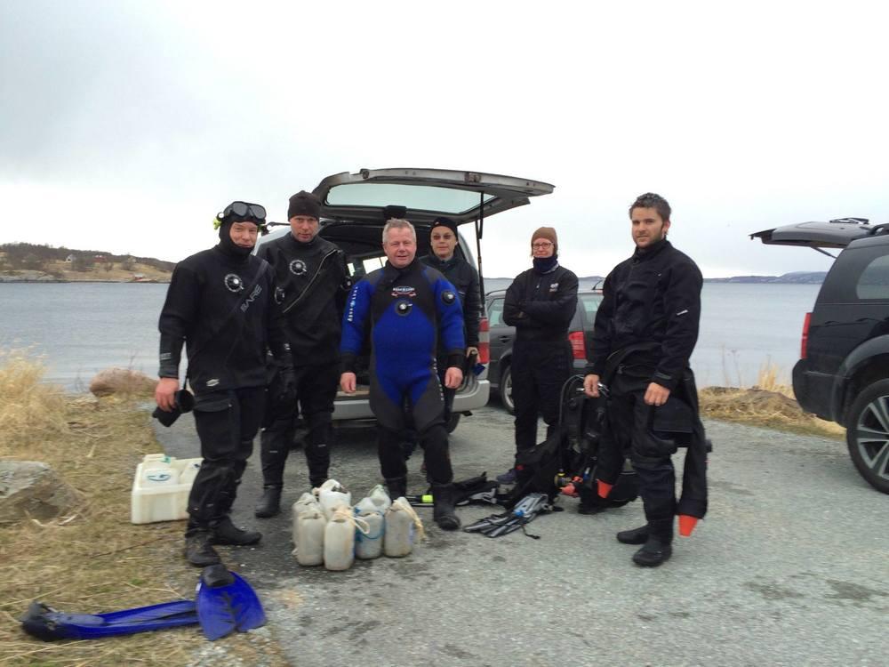 Dykkegjengen 26.april ved kappstøskjæret