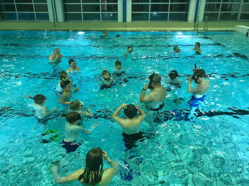 Demo av tømme snorkel for vann