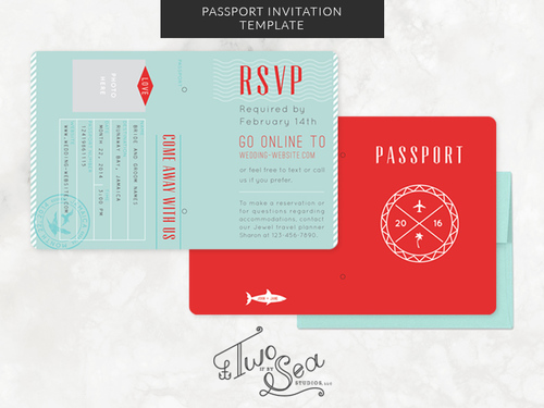 Passport wedding invitation template two if by sea studios passport wedding invitation template solutioingenieria Images