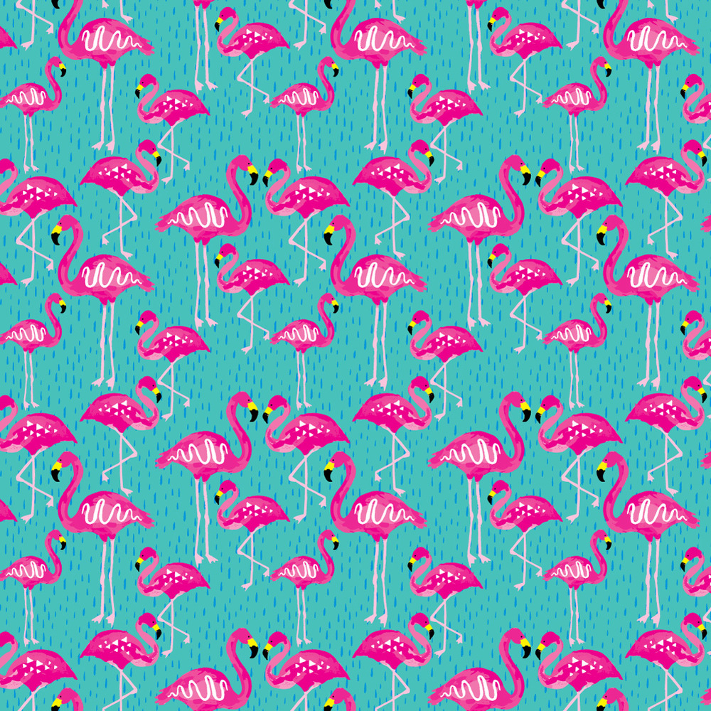 Flock of Pink - Pattern TWO-0002f