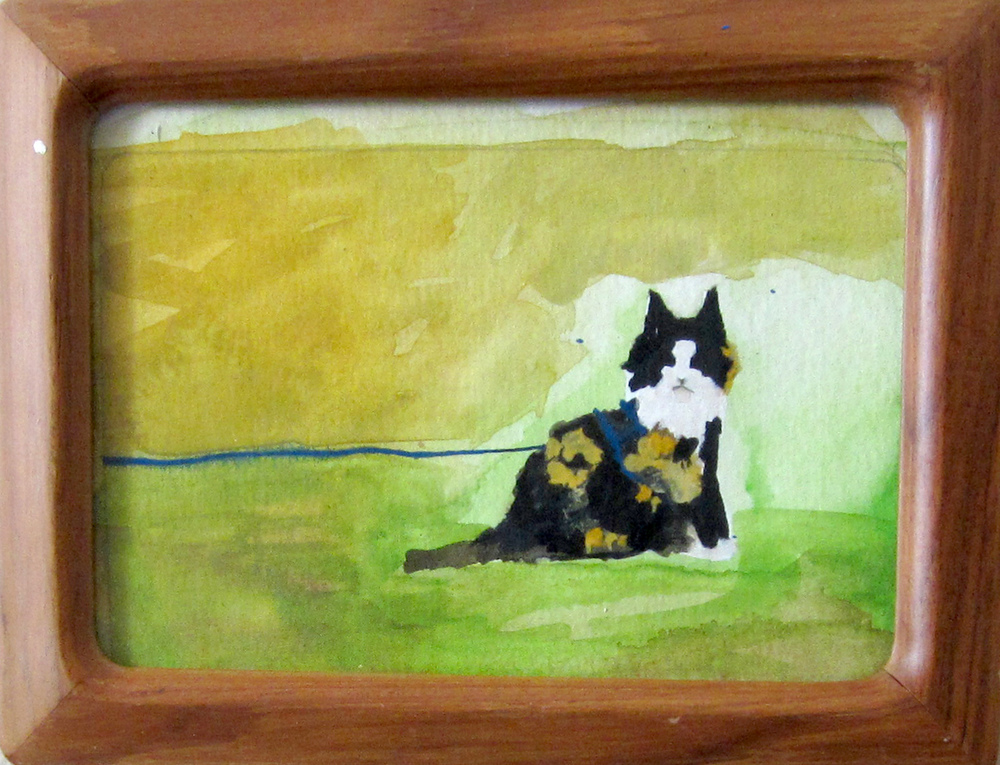 13: Stevie a Cat on a Leash-Sold