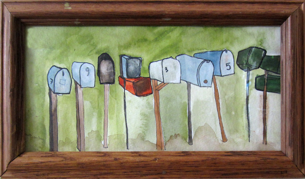 18: Mailboxes All in a Row 11.5 x 6.5""