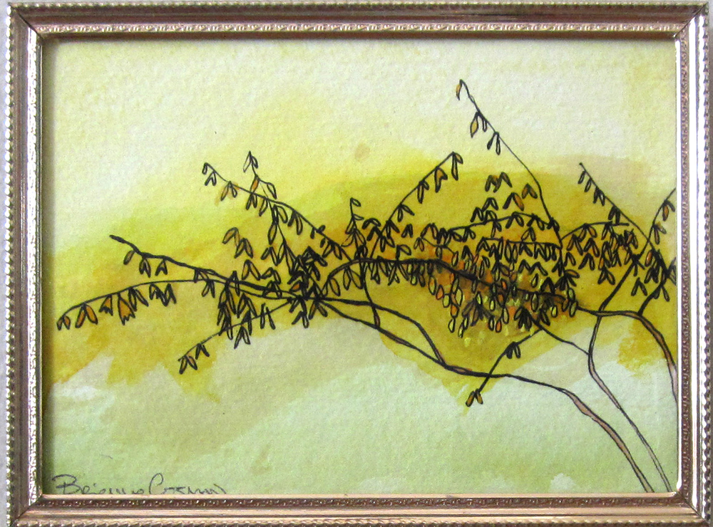 19: Forsythia Out My Window -Sold