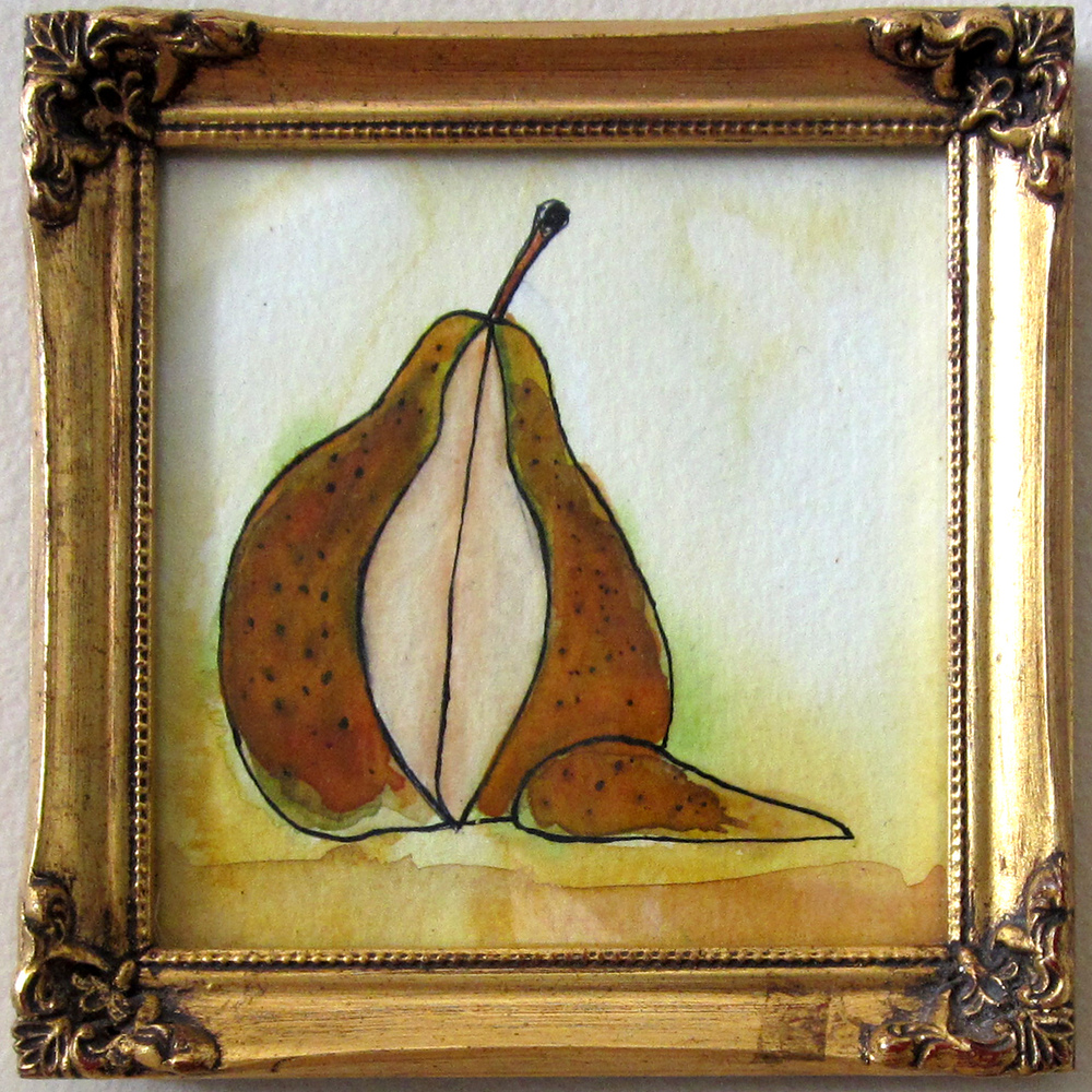 22: A Pear in the Nick of Time 6 x 6""