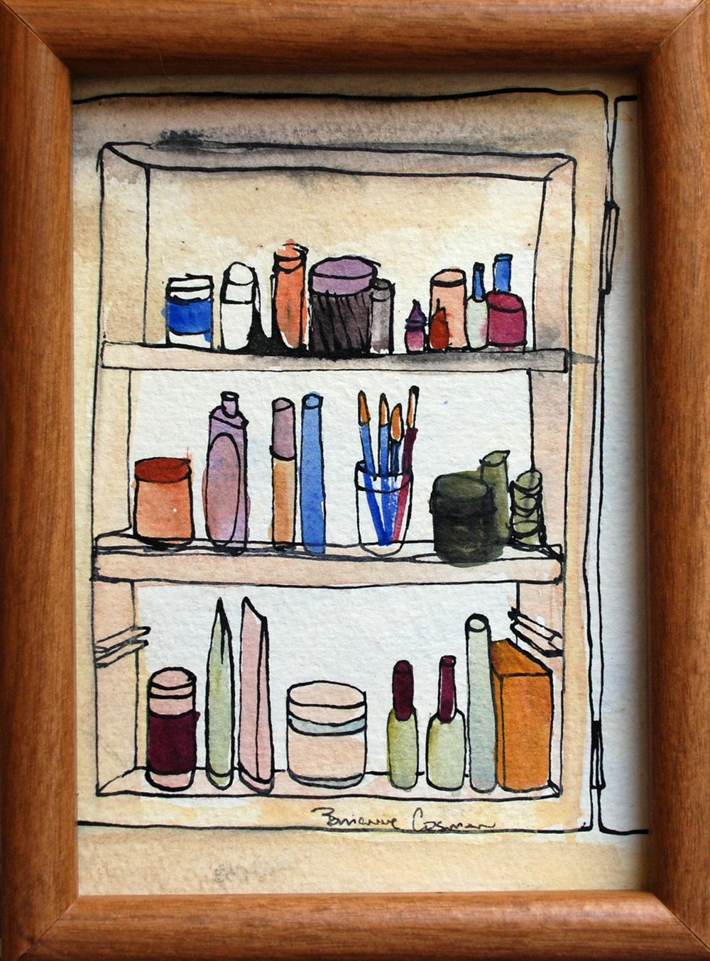 "51: Medicine Cabinet Clutter 5 x 7 """