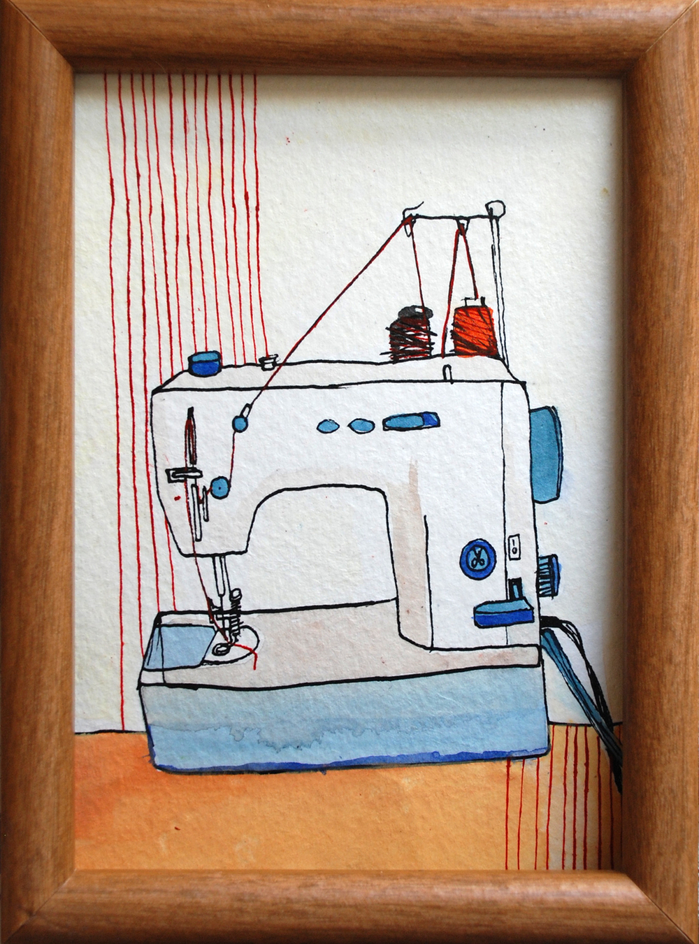 54: Sewing Machine  5 x 7 ""