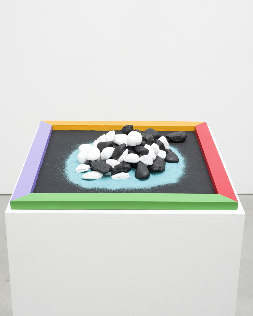 Razo, County Line, 2016, painted wood and rocks, 4 x 18 x 18 in., 10.16 x 45.72 x 45.72 cm, CNON 57.737.jpg