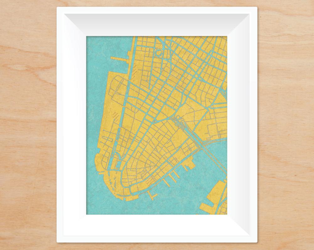 VINTAGE GLOBE CITY MAPS