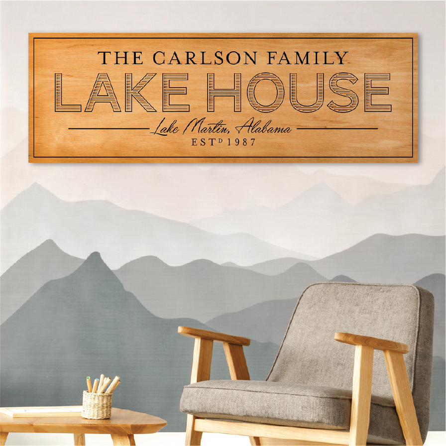 Lake House Signs on Canvas ($150-250)