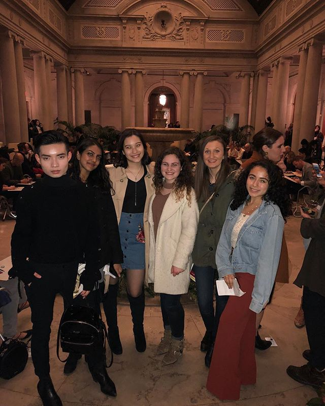 Check out how stylish the group looked during the Frick Museum visit a couple weeks ago!