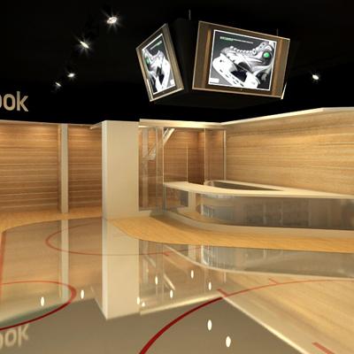 návrh interiéru PREDAJŇA HOCKEYCENTER