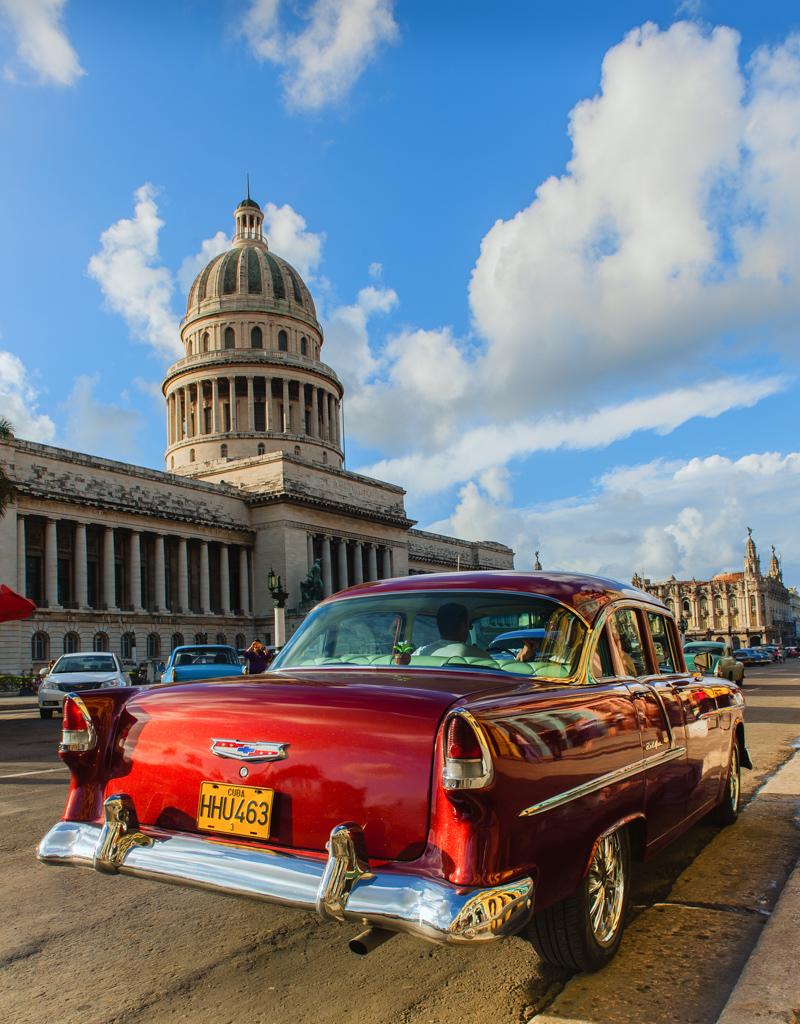 """Red Chevy"" - Havana, Cuba"
