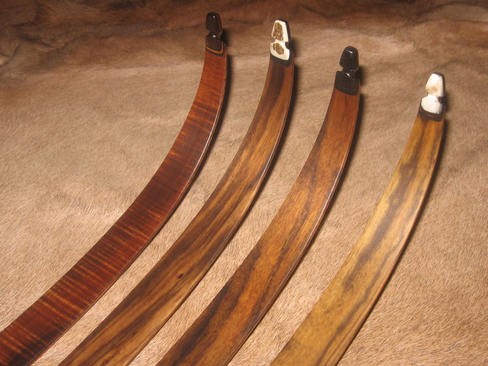 Curly Koa, Zebrawood, Shedua, Bocote