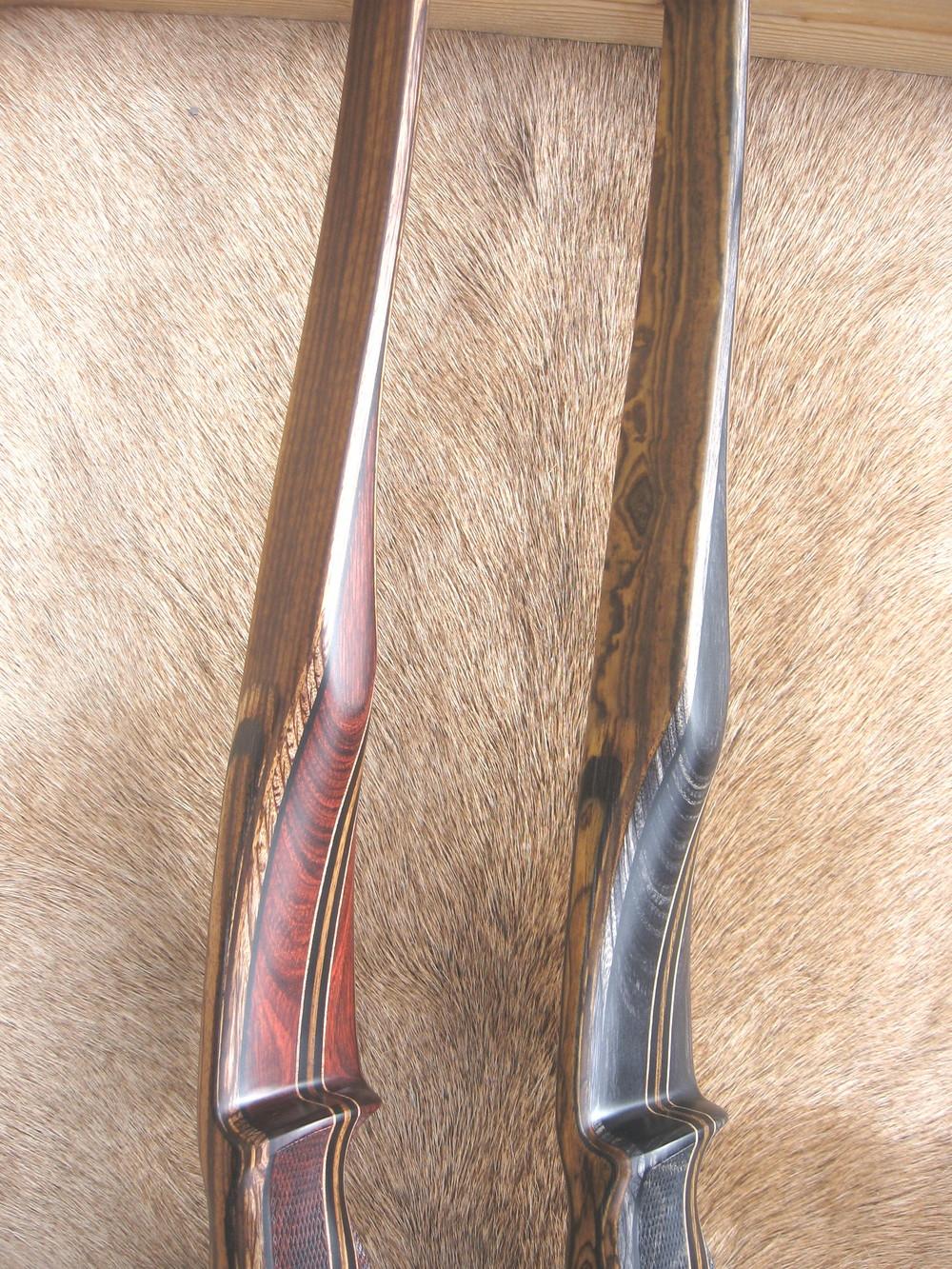Riosewod Dym Riser w/ Zebrawood Limbs  Charcoal Dym Riser w/ Bocote Limbs