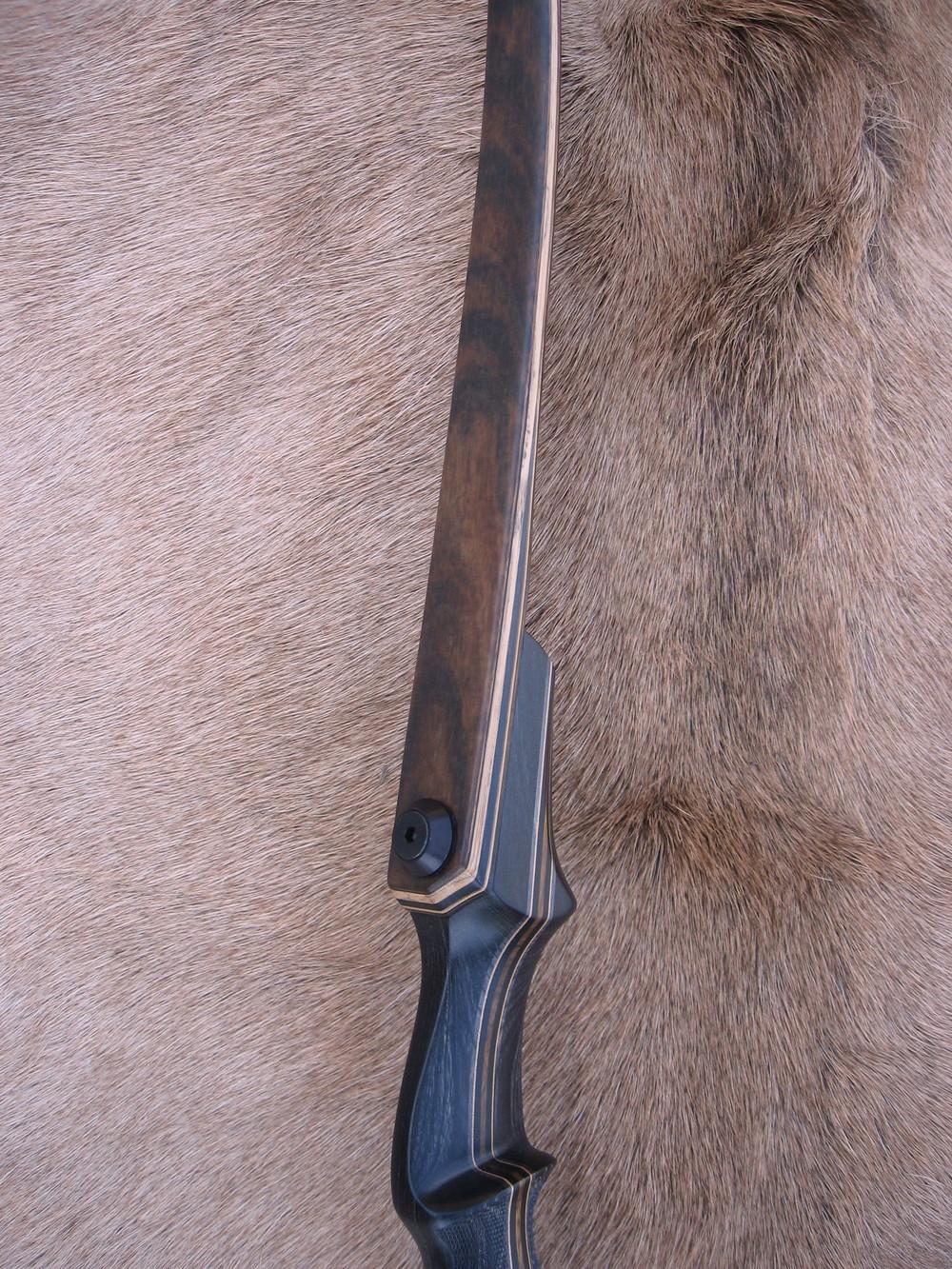 Charcoal Dym Riser- Zebrawood Limbs