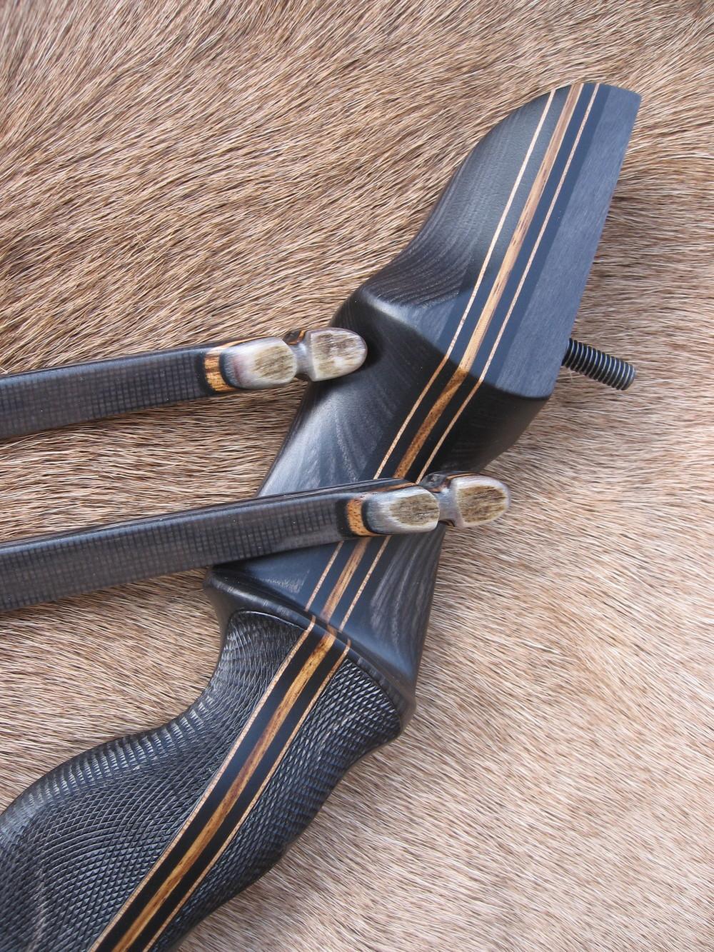 Charcoal Dym Riser- Elk Antler tips