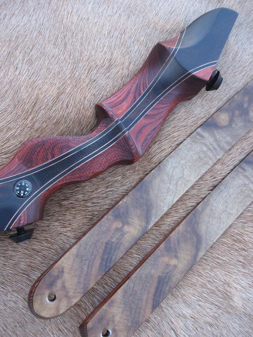Rosewood Dym Riser w'Macassar Ebony Flare- Myrtle Limbs