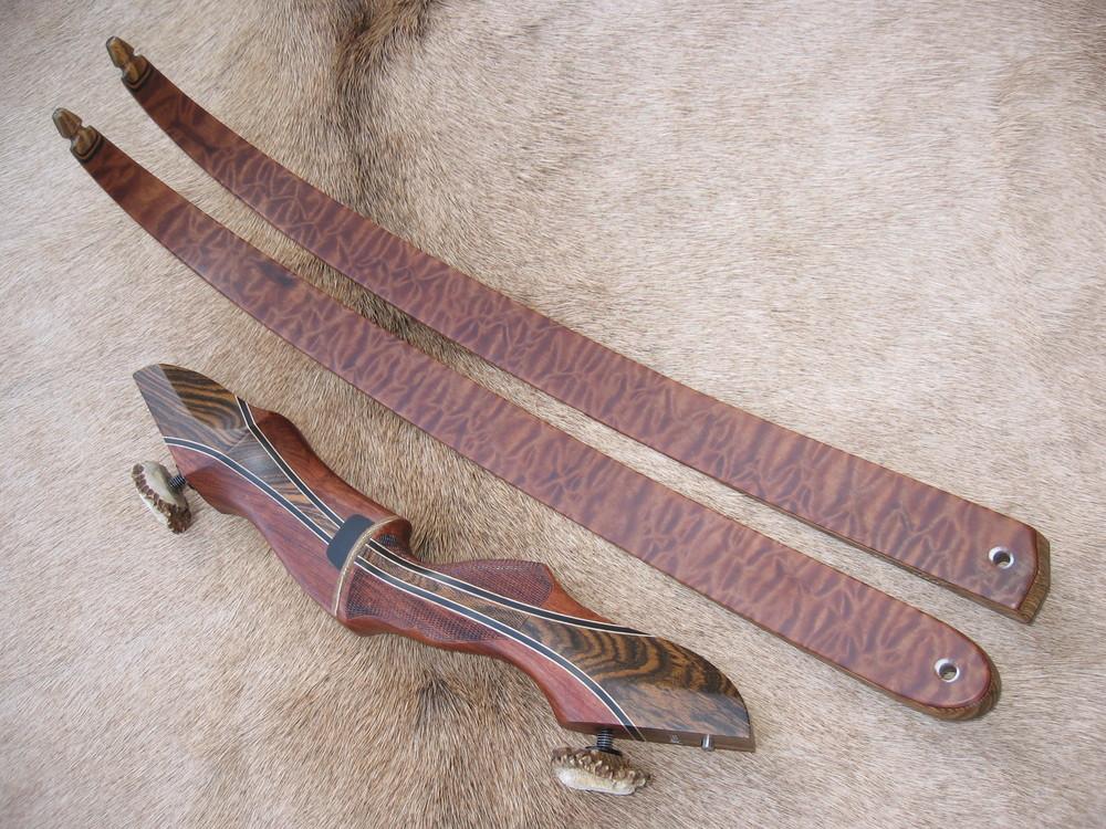 Bubinga Riser w/ Bocote Flare- Sapele Limbs