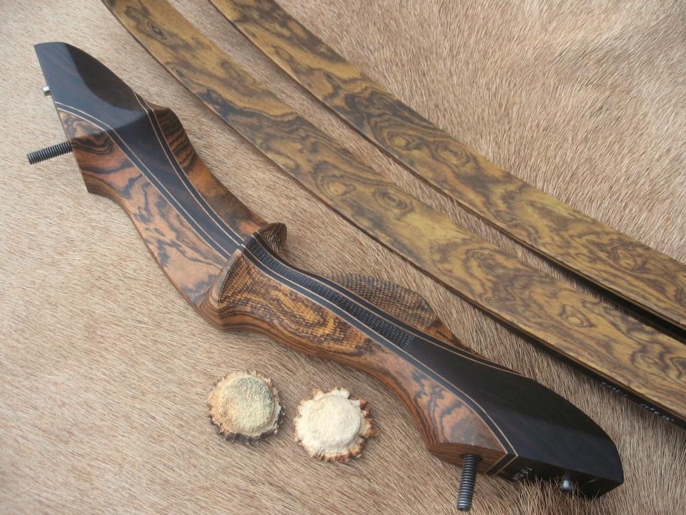 Bocote Riser w/ Macassar Ebony Flare- Bocote Limbs