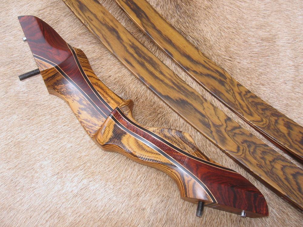 Bocote Riser w/ Cocobolo Flare- Bocote Limbs