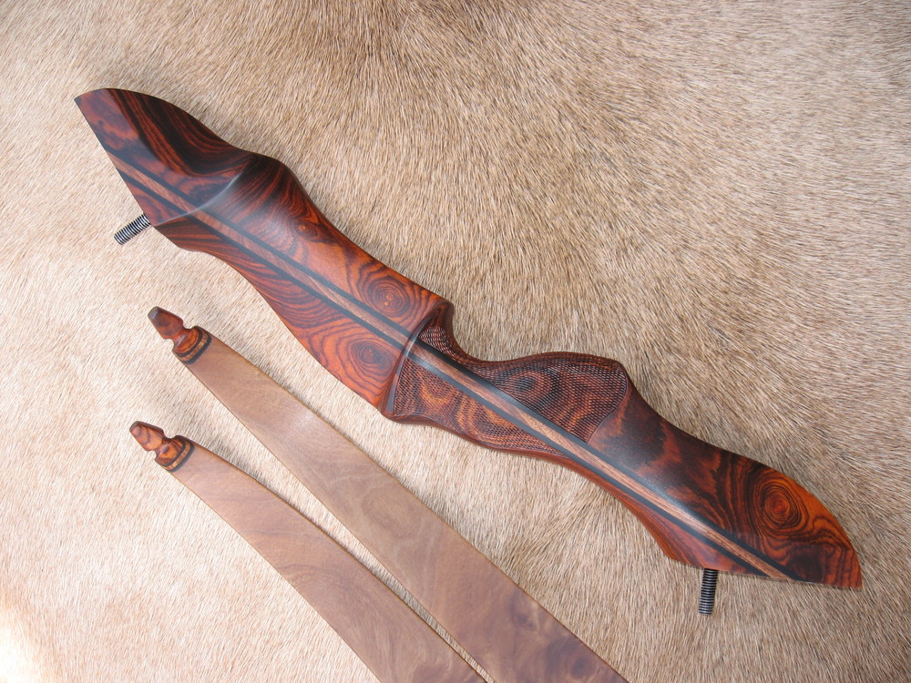 Cocobolo Riser- Elm Burl Limbs