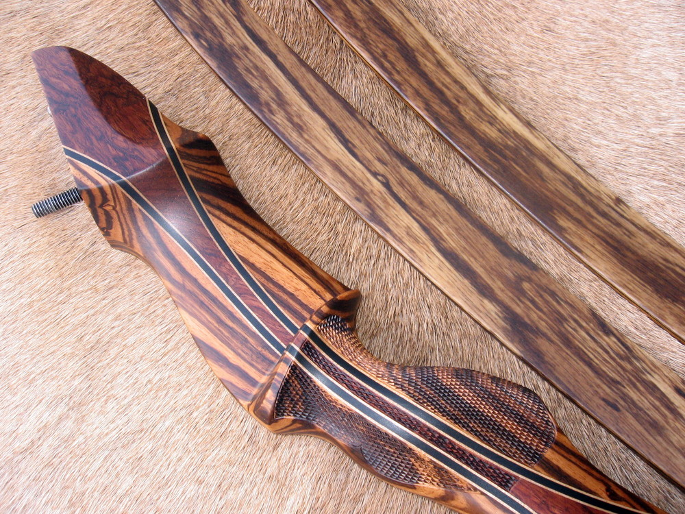 Zebrawood Riser w/ Cocobolo Flare- Zebrawood Limbs