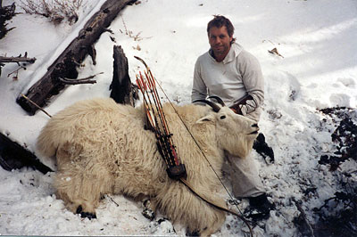 Paul Schafer with Mountain Goat