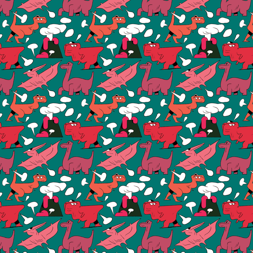 Dinosaur Repeat Pattern