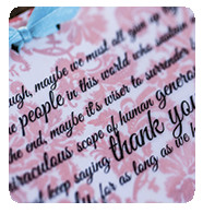 Custom thank you note designed by Pa-py-ri - having trouble seeing this image? Visit our Facebook page for more pictures.