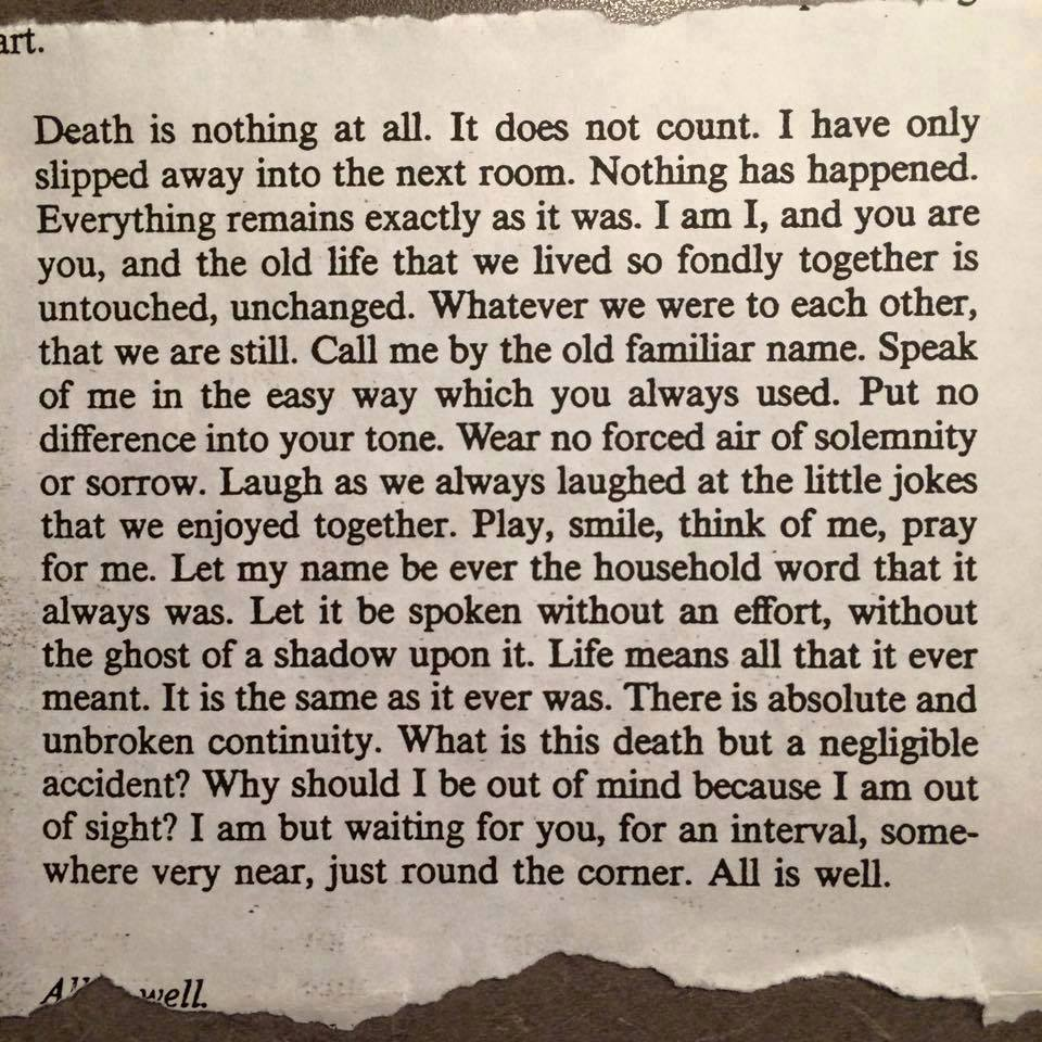 Reading This Helped Me Before You Were Gone And We Knew The End Was Nearing It Helped In The Days After As With So Many Friends Who Hugged And Simply Let