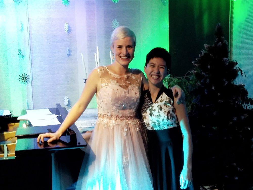 mit Sophia Körber beim Hauskonzert, 2017