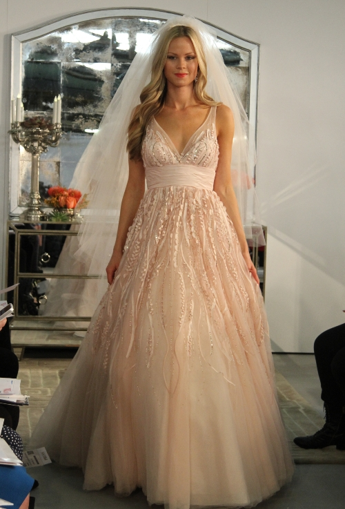 Blush Colored Mermaid Wedding Dresses Blush Wedding Dress Wtoo 2013