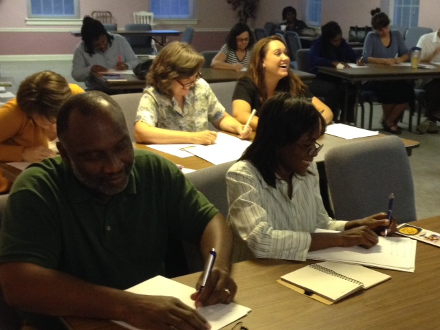 Parents and Educators during a recent Dyslexia Simulation. OurUpcoming Events page detailstutoring sessions, workshops and volunteer training. We invite you to join us!